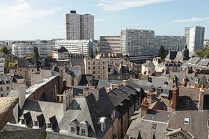 Vues aériennes du centre ville depuis la cathédrale